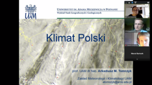 Lekcja geografii w ramach współpracy naszej szkoły z UAM w Poznaniu.